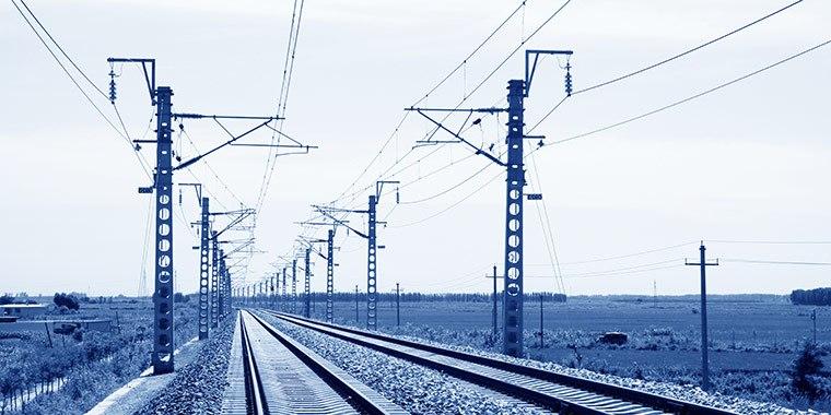 Metallelemente für die Elektrifizierung der Eisenbahn