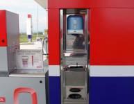 Metallelemente der Tankstelle (5)