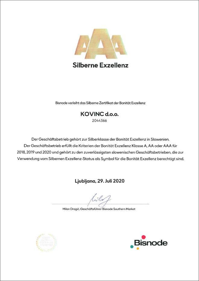 Kovinc - AAA Silberne Exzellenz