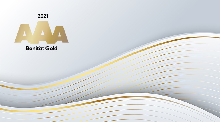 Goldenes Bonitätszertifikat (2021)